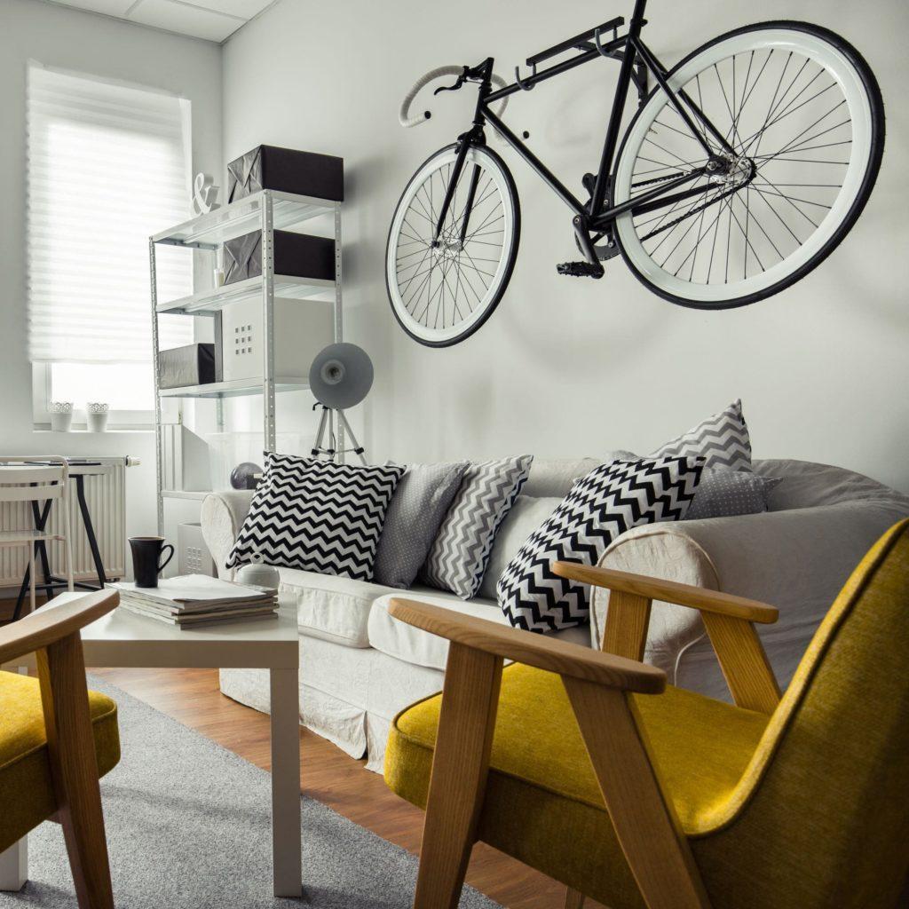 Rower w kawalerce/niewielkim mieszkaniu